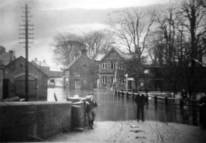 Ponteland Main St. Flood 1900